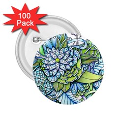 Peaceful Flower Garden 2.25  Button (100 pack)