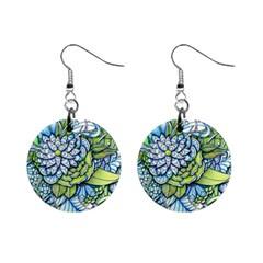 Peaceful Flower Garden Mini Button Earrings