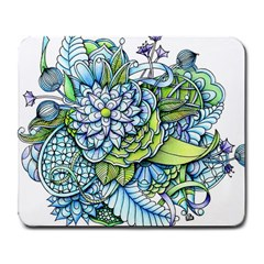 Peaceful Flower Garden Large Mouse Pad (Rectangle)