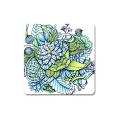 Peaceful Flower Garden Magnet (Square)