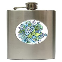 Peaceful Flower Garden Hip Flask
