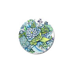 Peaceful Flower Garden Golf Ball Marker 4 Pack