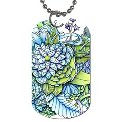 Peaceful Flower Garden Dog Tag (Two-sided)