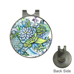 Peaceful Flower Garden Hat Clip with Golf Ball Marker