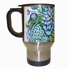 Peaceful Flower Garden Travel Mug (White)