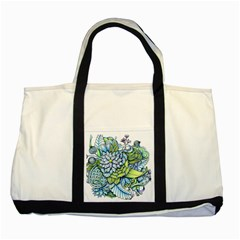 Peaceful Flower Garden Two Toned Tote Bag