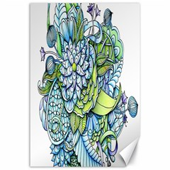 Peaceful Flower Garden Canvas 24  X 36  (unframed)