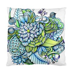 Peaceful Flower Garden Cushion Case (Two Sided)