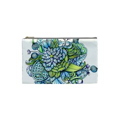 Peaceful Flower Garden Cosmetic Bag (small)