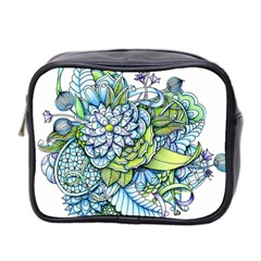 Peaceful Flower Garden Mini Travel Toiletry Bag (Two Sides)