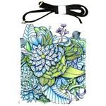 Peaceful Flower Garden Shoulder Sling Bag Front