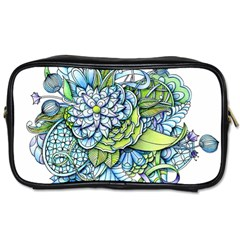 Peaceful Flower Garden Travel Toiletry Bag (one Side)