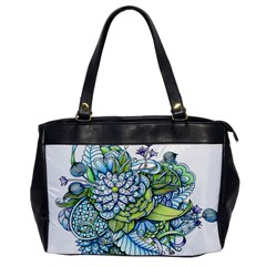 Peaceful Flower Garden Oversize Office Handbag (One Side)