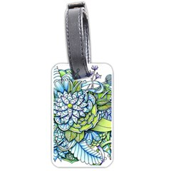 Peaceful Flower Garden Luggage Tag (Two Sides)