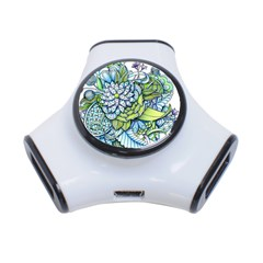 Peaceful Flower Garden 3 Port Usb Hub