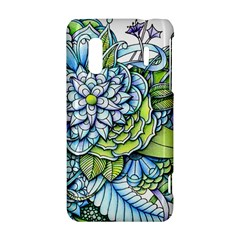 Peaceful Flower Garden HTC Evo Design 4G/ Hero S Hardshell Case