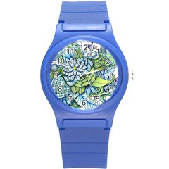 Peaceful Flower Garden Plastic Sport Watch (Small)