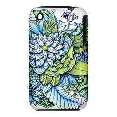 Peaceful Flower Garden Apple iPhone 3G/3GS Hardshell Case (PC+Silicone)