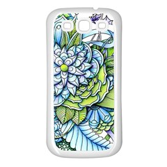 Peaceful Flower Garden Samsung Galaxy S3 Back Case (white)