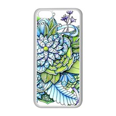 Peaceful Flower Garden Apple iPhone 5C Seamless Case (White)