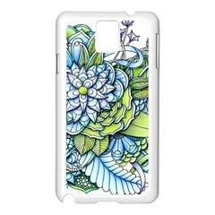 Peaceful Flower Garden Samsung Galaxy Note 3 N9005 Case (white)