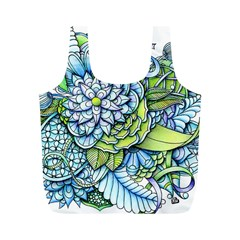 Peaceful Flower Garden Reusable Bag (M)