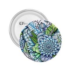 Peaceful Flower Garden 2 2.25  Button