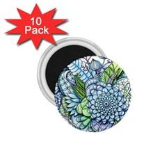 Peaceful Flower Garden 2 1.75  Button Magnet (10 pack)