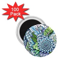 Peaceful Flower Garden 2 1.75  Button Magnet (100 pack)
