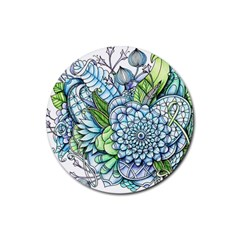 Peaceful Flower Garden 2 Drink Coasters 4 Pack (Round)