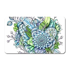 Peaceful Flower Garden 2 Magnet (Rectangular)