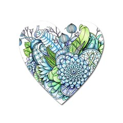 Peaceful Flower Garden 2 Magnet (heart)