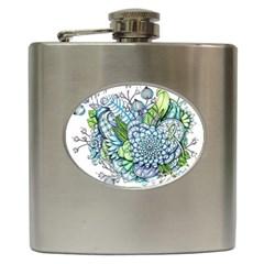 Peaceful Flower Garden 2 Hip Flask
