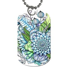 Peaceful Flower Garden 2 Dog Tag (two Sided)