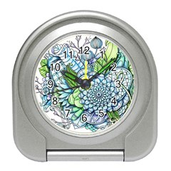 Peaceful Flower Garden 2 Desk Alarm Clock