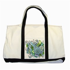 Peaceful Flower Garden 2 Two Toned Tote Bag