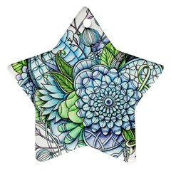 Peaceful Flower Garden 2 Star Ornament (Two Sides)