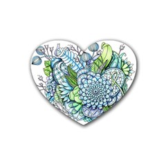 Peaceful Flower Garden 2 Drink Coasters (heart)