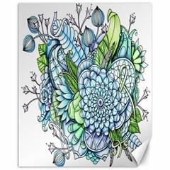 Peaceful Flower Garden 2 Canvas 11  x 14  (Unframed)