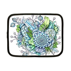 Peaceful Flower Garden 2 Netbook Sleeve (small)
