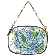 Peaceful Flower Garden 2 Chain Purse (two Sided)
