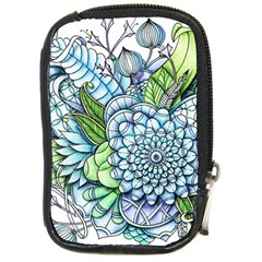 Peaceful Flower Garden 2 Compact Camera Leather Case