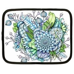 Peaceful Flower Garden 2 Netbook Sleeve (xxl)