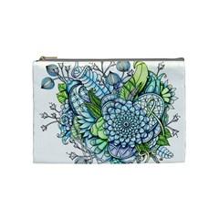Peaceful Flower Garden 2 Cosmetic Bag (medium)