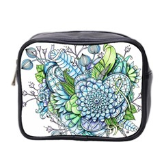 Peaceful Flower Garden 2 Mini Travel Toiletry Bag (two Sides)