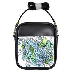 Peaceful Flower Garden 2 Girl s Sling Bag