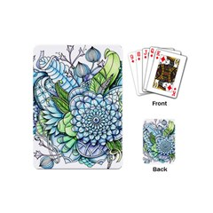 Peaceful Flower Garden 2 Playing Cards (mini)