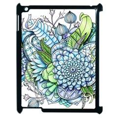 Peaceful Flower Garden 2 Apple iPad 2 Case (Black)