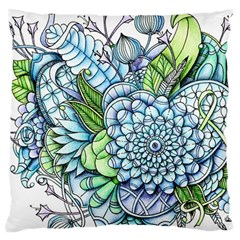 Peaceful Flower Garden 2 Large Cushion Case (Two Sided)
