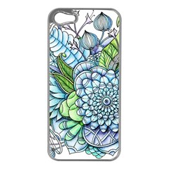 Peaceful Flower Garden 2 Apple iPhone 5 Case (Silver)